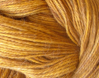 Hand Dyed Alpaca Yarn in Mystic Pecan  Finger Wt   250 yds/50 gr