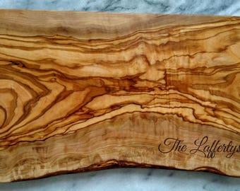 """12"""" Engraved Olive Wood Serving Board"""