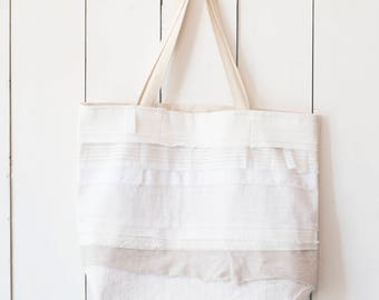 Upcycled One-Of-A-Kind Scrappy Tote Bag 9