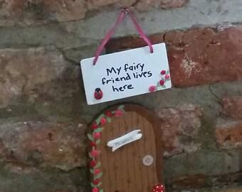 Fairy Door. Elf Door. Magical Fairyland Entrance Portal.