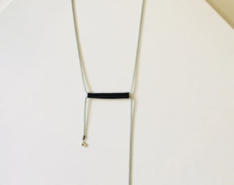 KABLE 3 leather tube necklace