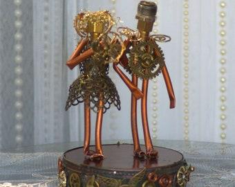 Steampunk Alternative Cake Topper Wedding Decor Goth