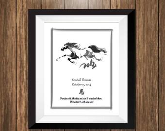 Custom Chinese Zodiac Art Print - Year of the Horse