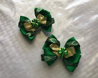 St. Patrick's Day Hair Bow set