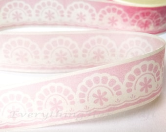 Lace Doilies Pink Washi Tape / Pink Lace Decorative Tape / Doilies Pink Masking Tape / Zakka washi tape 10m h18