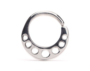 Nose Ring Dots Septum Ring Sterling Silver Body Jewelry Boho Outfit Style 14g 16g - SE018SSO