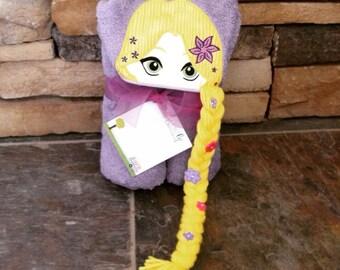 Rapunzel Inspired Hooded Towel