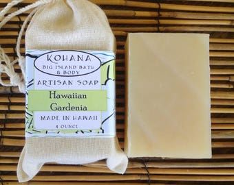 Hawaiian White Gardenia Soap 4 oz.-MADE IN HAWAII-Free Shipping