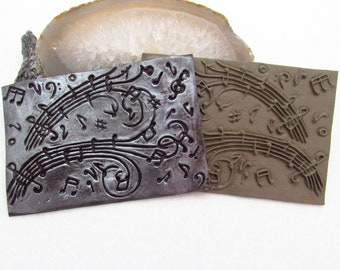 Melody On The Wind Polymer Clay Texture Stamp