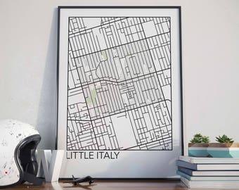 Little Italy, Toronto Neighbourhood Map Print