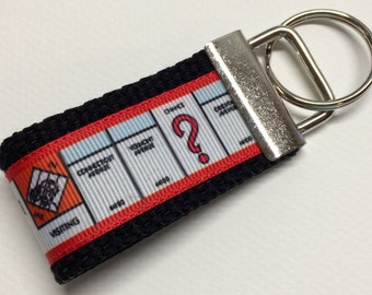 Monopoly Game Board Inspired  MINI Key Fob/Key Chain/Fingerlet *Ready to Ship*