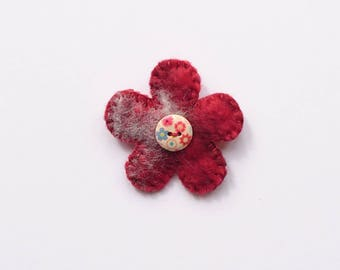 Felt flower brooch, Felt flower, Brooch, Felted flower, Felted flower brooch, Mother's Day, Birthday gift, Easter present