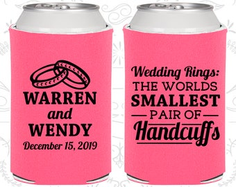 Wedding Rings, The Worlds Smallest Pair of Handcuffs, Wedding Giveaways, Handcuffs, Wedding Rings, Beer Holder (504)