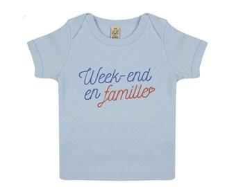 Family organic baby tshirt