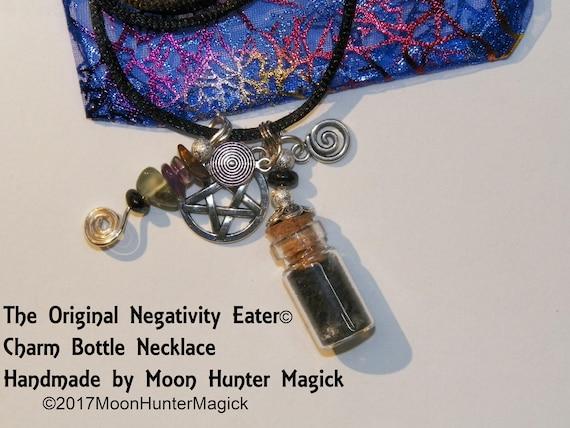 Anti Negativity Negativity Eater Amulet Charm Bottle Necklace Talisman