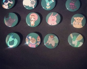 Tales of Mascot Pin Buttons