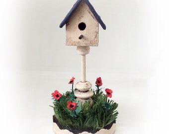 Pretty Little Birdhouse - Dollhouse Miniature Tutorial PDF in Three Scales