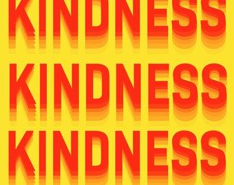 Kindness  Art Print by Giraffes and Robots