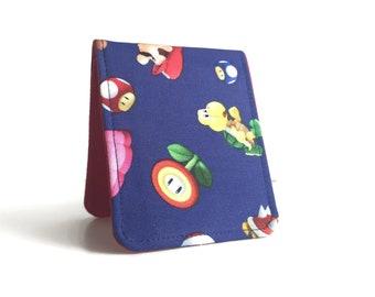 Customizable Skinny Wallet / Super Mario Nintendo Cotton / Vegan Wallet
