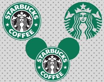 Starbucks SVG, Coffee svg, Starbucks cricut and silhouette cameo, Disney svg, Starbucks clipart, Starbucks cricut, Svg file
