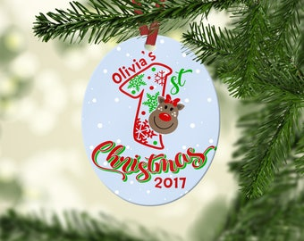 Personalized Baby's First Christmas Ornament, Baby Christmas Ornament, Personalized Christmas Ornament, Custom Ornament