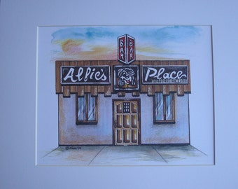 Alfie's Place, by Karen Paciullo, 2014, Throggs Neck, Bronx, NY,  ready to frame art print