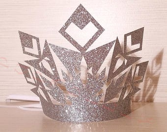 Snow Queen Glitter Crown. Handcrafted In 2-3 Business Days. 6 Ct. Winter Wonderland Party Crowns