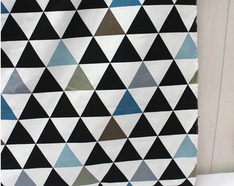 """Modern Triangles Oxford Cotton Fabric Geometric - Northern Europe Style - By the Yard (44 x 36"""") 40741 - 214"""