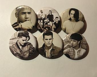 "1.25"" CNCO  Pinback Pack Pins Buttons Badges Chris Erick Zabdiel Richard Joel Soy Yo"