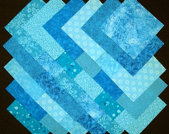 TEAL BLUE 5 inch Squares, 100% cotton, prewashed Quilt Block Fabric  (#B/40A)