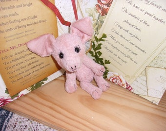 Pocket Piggies, 5 1/2inch. Mohair.shoe button eyes eyes, hand sewn, [special sale plus free shipping]