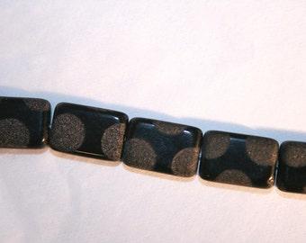 GLASS Polkadot Rectangles 15mm x 10mm