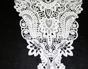 Large Venise Lace Yoke - Sold by the piece