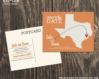 Texas – Save the Date – Austin, Houston Destination Wedding – Wedding Save the Dates