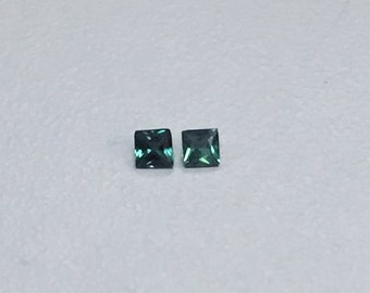 Brazilian Alexandrite 3mm Princess Cut Pair (Color Change) Green To Purple