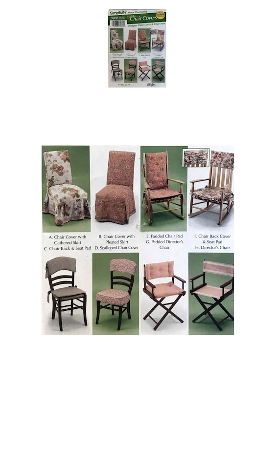 Easy Chair Cover Pattern Seat Pad Cover DIY Chair Pad Simplicity ...