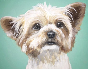 8x10 size canvas custom painted pet portrait sample canvas size 8x10