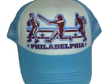 Kid's Youth TODDLER Philadelphia Baseball Mesh Trucker Hat Cap