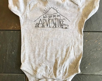Baby Adventure bodysuit - Camping, road trip, mountains, outdoors
