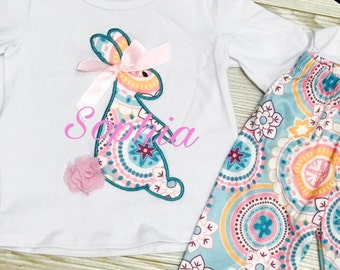 Easter Outfit/Monogrammed Easter/Bunny Outfit