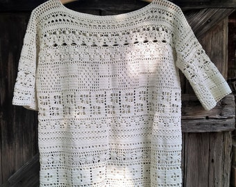 Crochet Blouse with different stripes