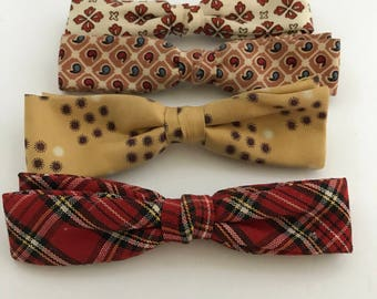 Four Vintage Ace Bow Bow Ties