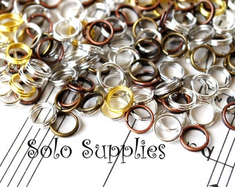 100 6mm Mixed Color Split Rings