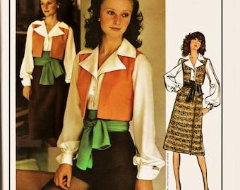 70's Vogue PARIS Original Pattern 2561 Guy LaRoche FAB Matador Vest w Hot Pants & Sash Sz 14 Uncut FF Vintage Haute Couture Sewing Pattern