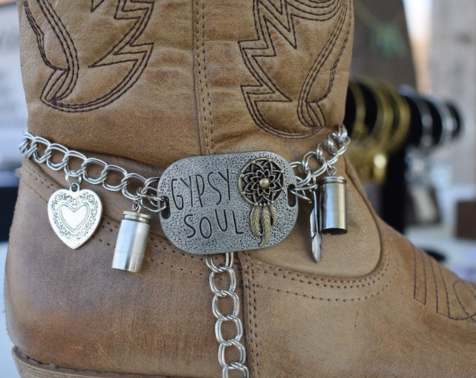 Featured listing image: Boot Charm Bracelet