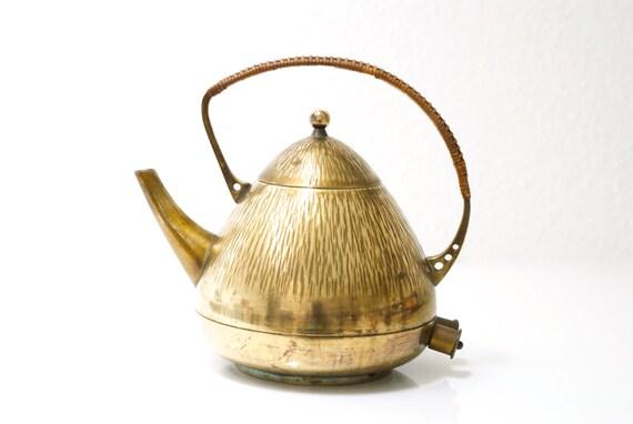 Messing antik Wasserkocher von THERMA Schweiz Peter Behrens