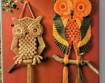 Four owls macrame