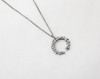Laurel Wreath necklace- Sterling Silver