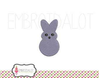 Mini Peep machine embroidery design. Such a cute mini easter embroidery design. Peep embroidery for easter.