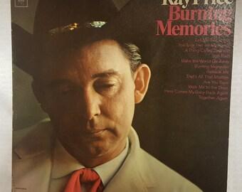 Ray Price - Burning Memories - Vintage Record